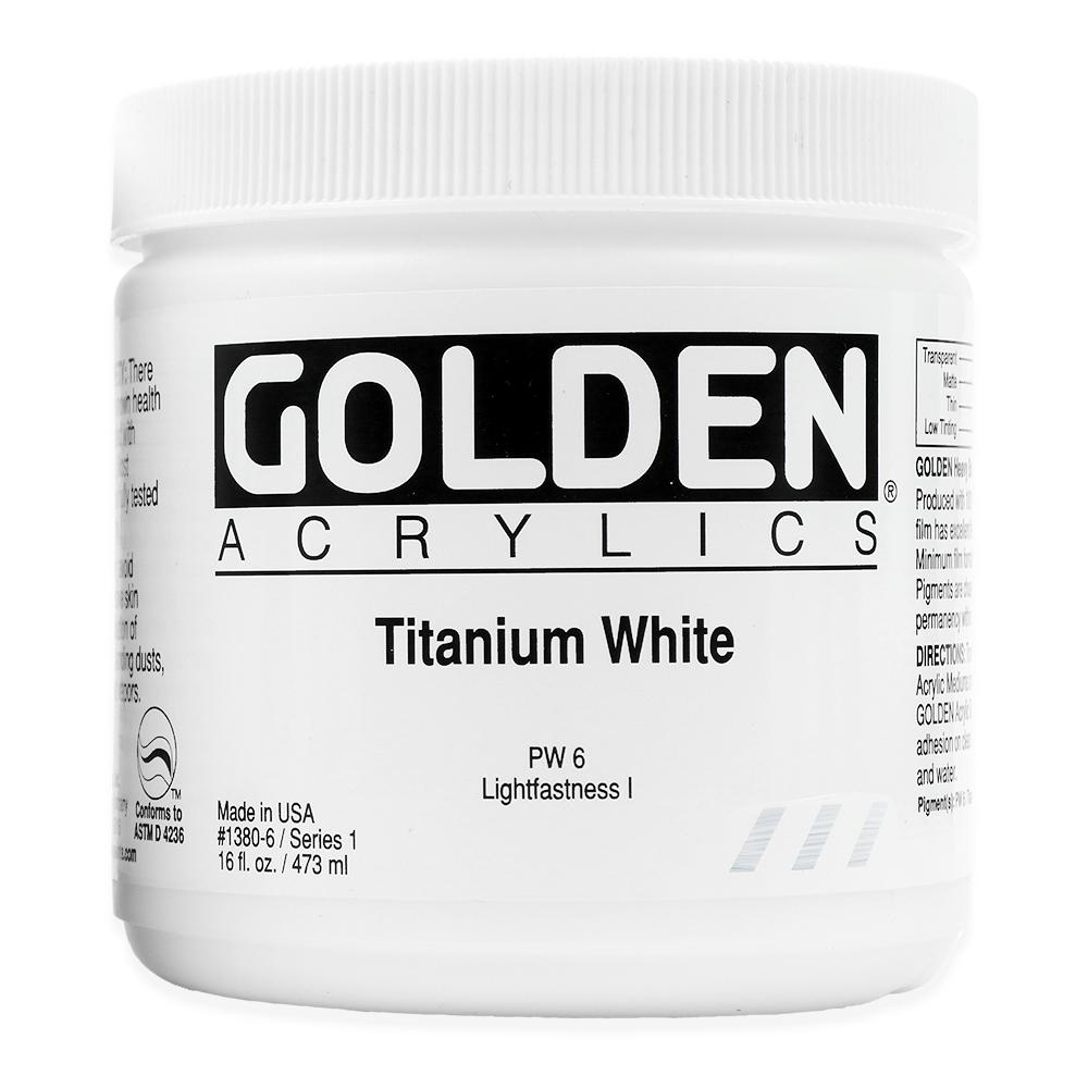 Golden titanium white acryl 473ml