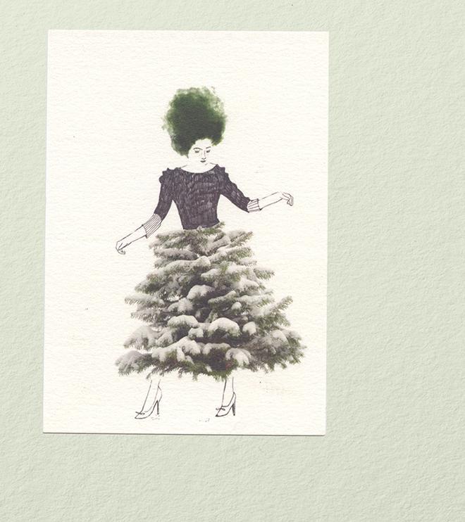 kleine kerstkaarten van Claudi