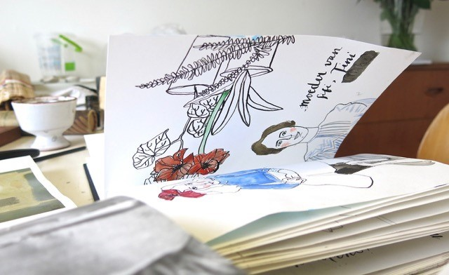 Zomerworkshop UCK - schetsboek Kim Welling