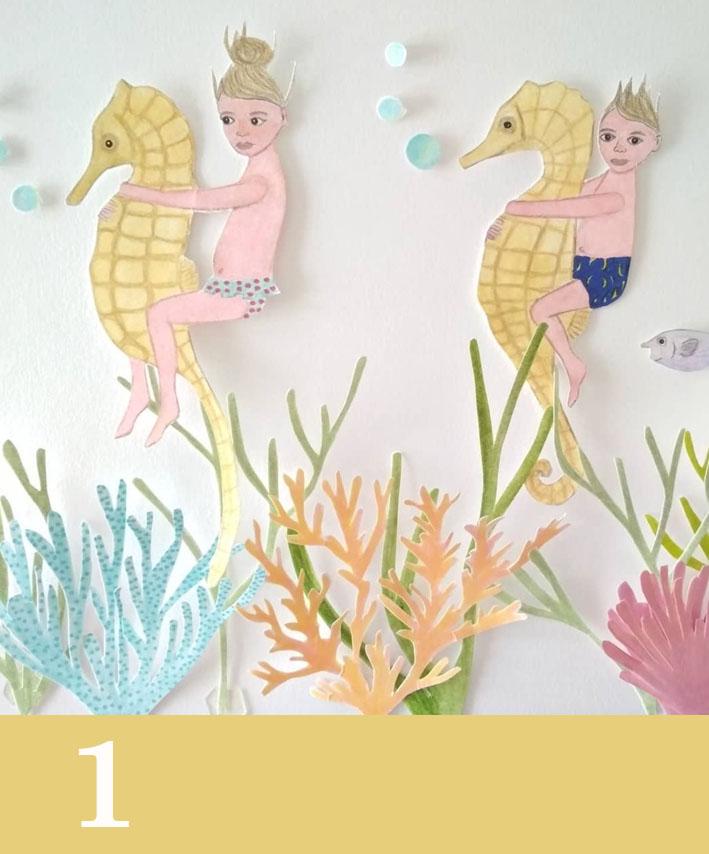 gumclub illustratie challenge_ zwemmen_goldilockssilverfox