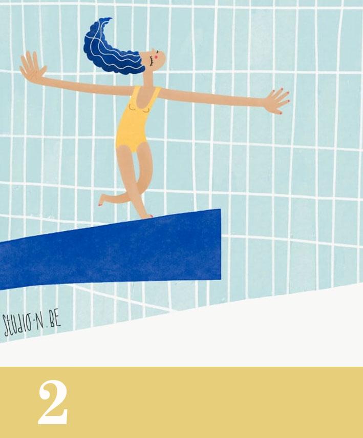 gumclub illustratie challenge_ zwemmen_nataliehuyghe