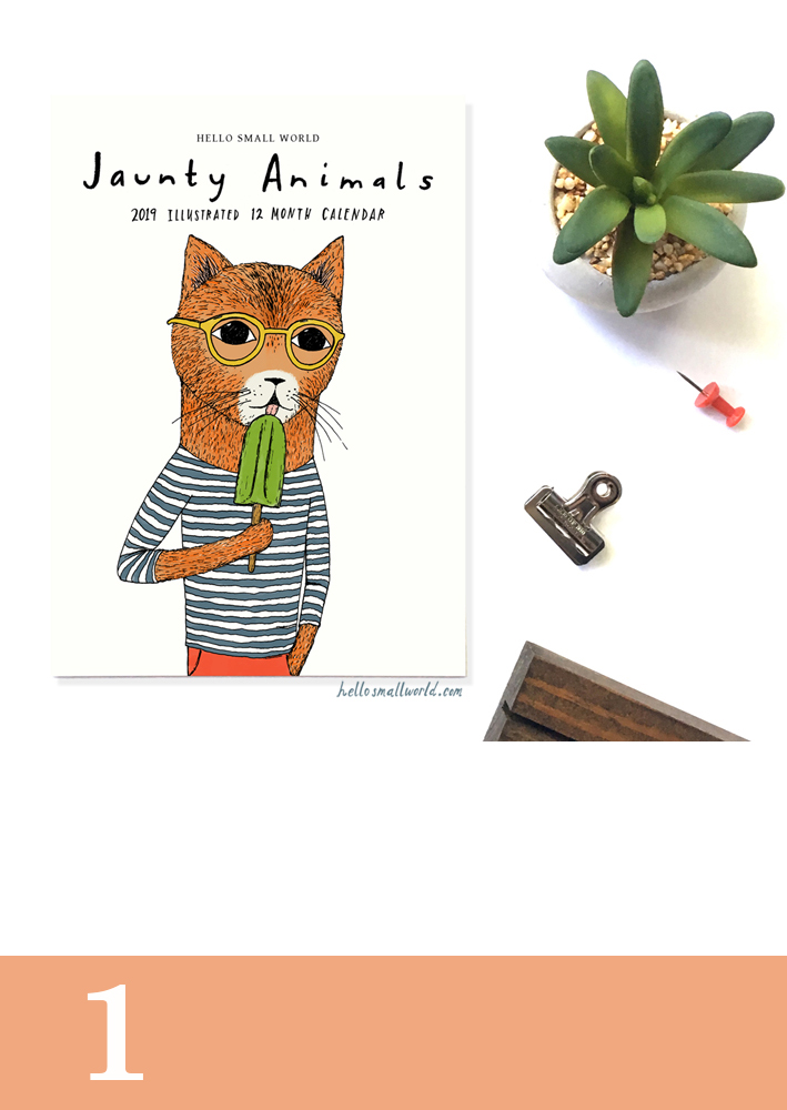 jaunty animals calender