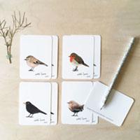 minikaartjes vogels