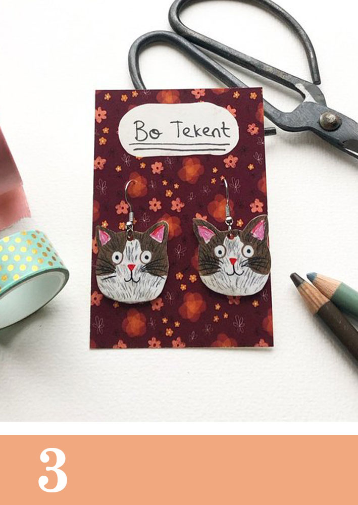 cat earrings bo-lynn hartman