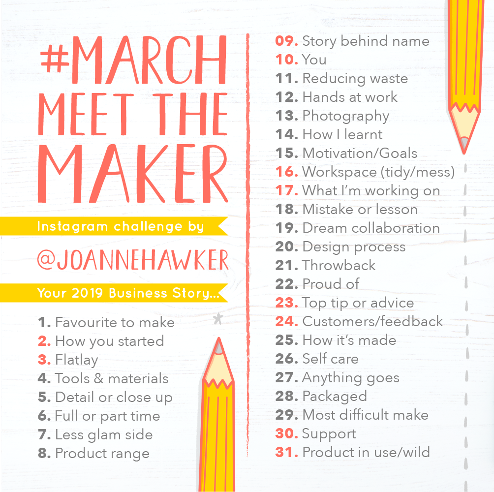 March meet the maker prompt 2019