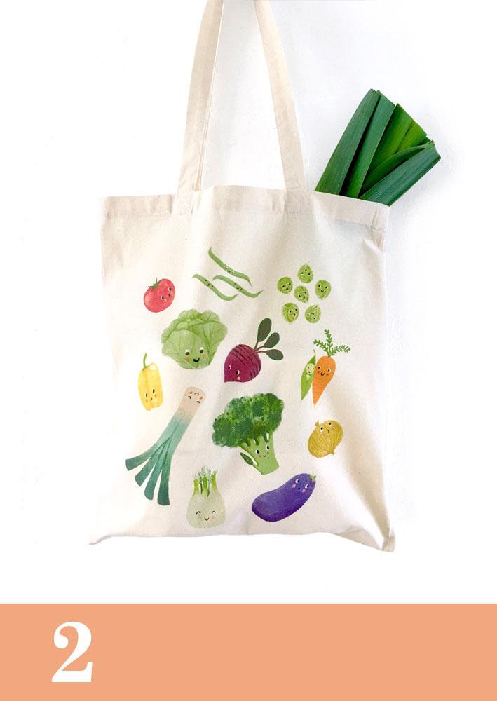 Illuster groenten tas