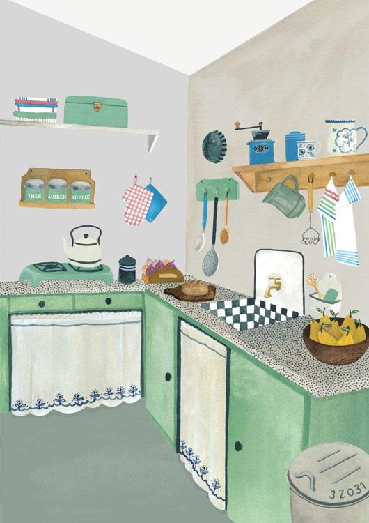 jaren 30 keuken Valesca van Waveren