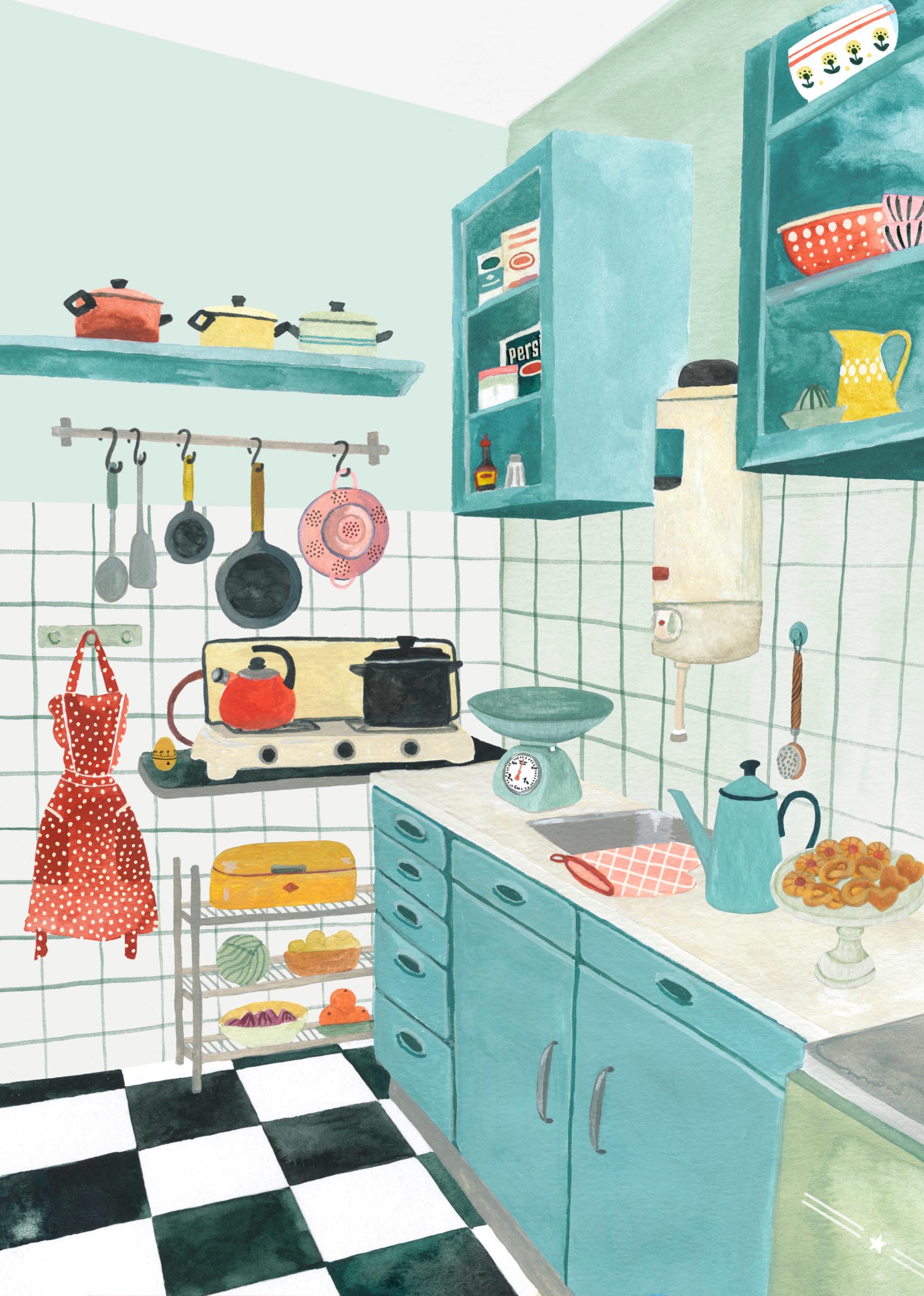 Valesca van Waveren jaren 50 keuken