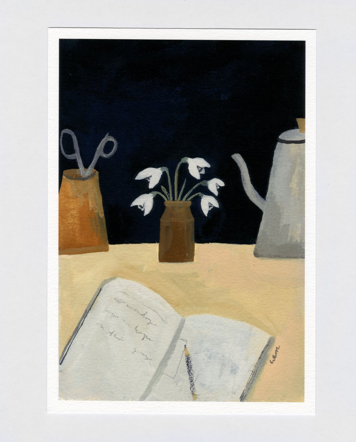 snowdrops on the table print